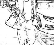 Coloriage dessin  Célébrités 3