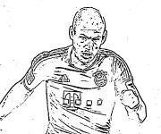 Coloriage et dessins gratuit célébrité de Bundesliga à imprimer