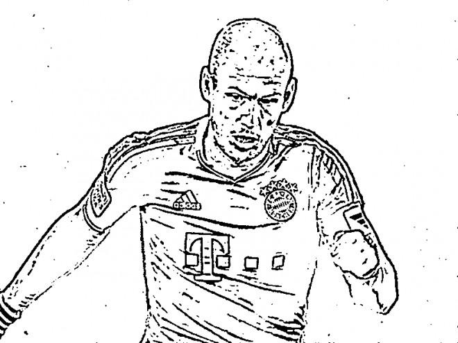 Coloriage et dessins gratuits célébrité de Bundesliga à imprimer