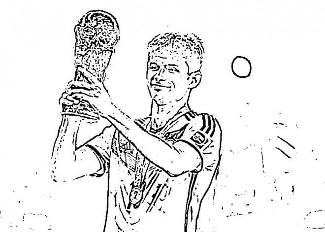 Coloriage et dessins gratuits Célébrité Thomas Muller à imprimer