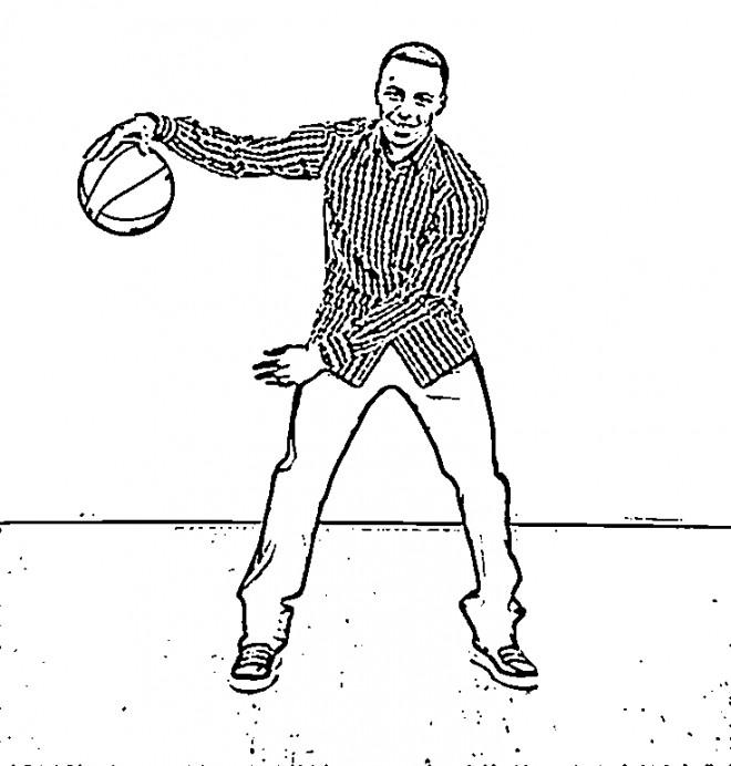 Coloriage et dessins gratuits Célébrités Basket Ball à imprimer
