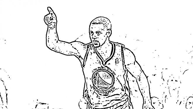 Coloriage et dessins gratuits Célébrités Basket Ball NBA à imprimer