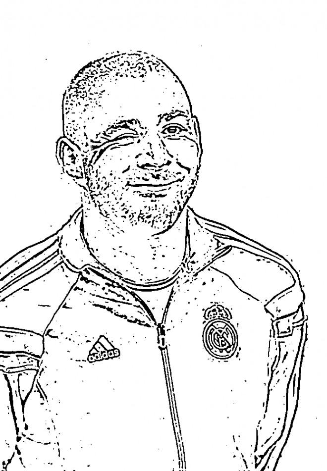 Coloriage et dessins gratuits Célébrités Benzema à imprimer