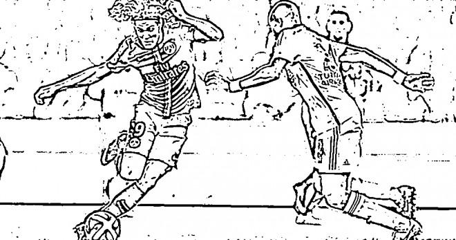 Coloriage et dessins gratuits Célébrités Cavani Football à imprimer