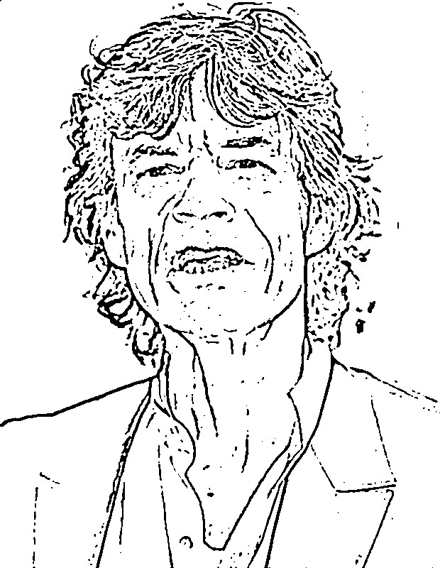 Coloriage et dessins gratuits Célébrités Chanteur pour adute à imprimer