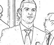 Coloriage et dessins gratuit célébrités Cristiano Ronaldo à imprimer