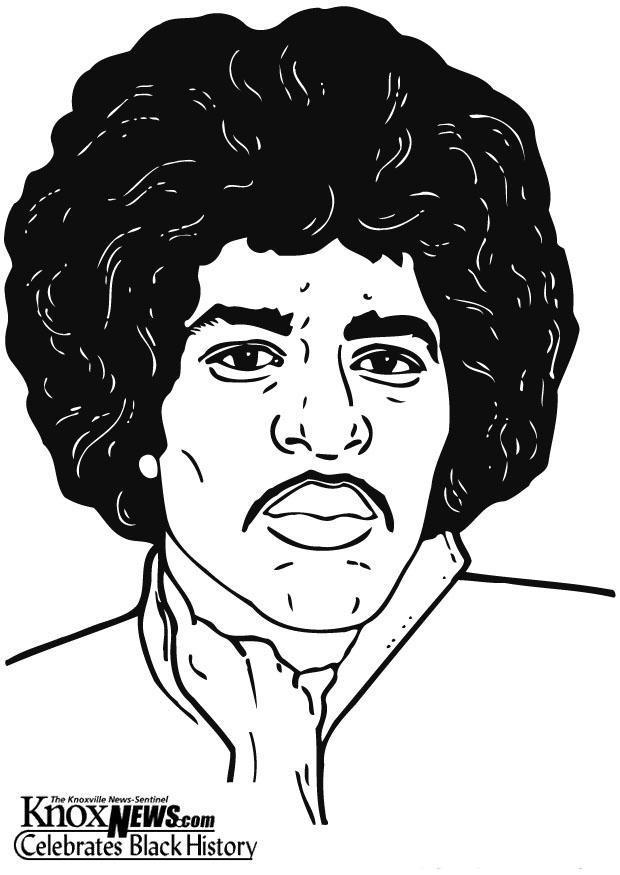 Coloriage et dessins gratuits Célébrités en noir et blanc à imprimer