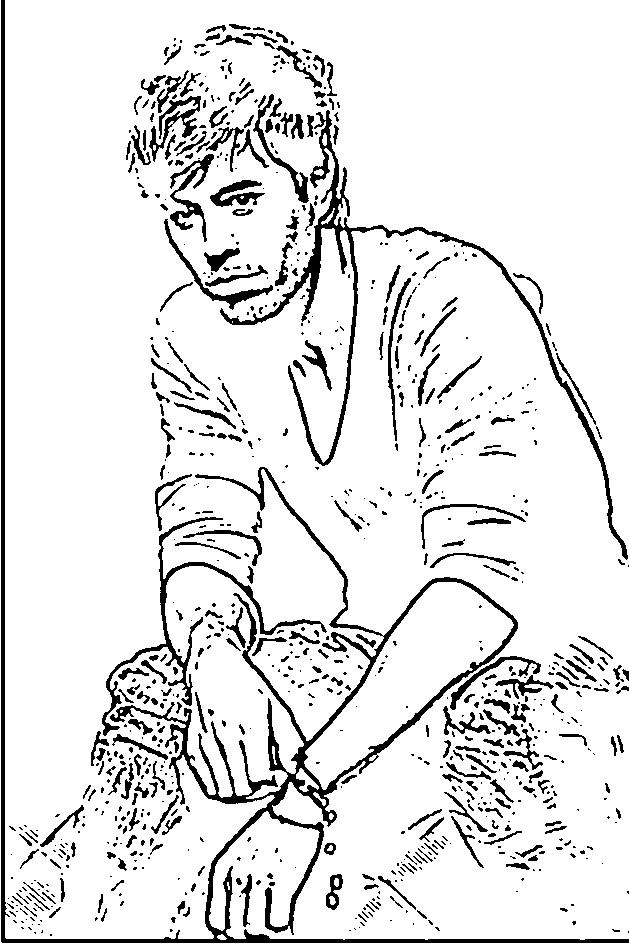 Coloriage et dessins gratuits Célébrités Enrique Iglesias à imprimer