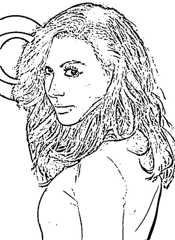 Coloriage et dessins gratuits Célébrités Féminines à imprimer