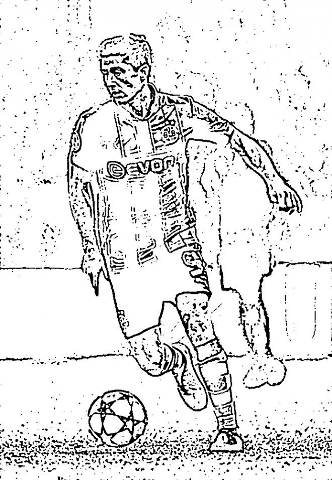 Coloriage et dessins gratuits Célébrités Football sur ordinateur à imprimer