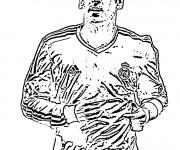 Coloriage Célébrités Footballeur Allemand