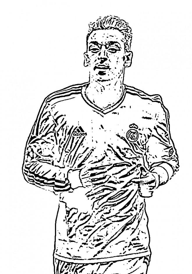 Coloriage c l brit s footballeur allemand - Footballeur a colorier ...