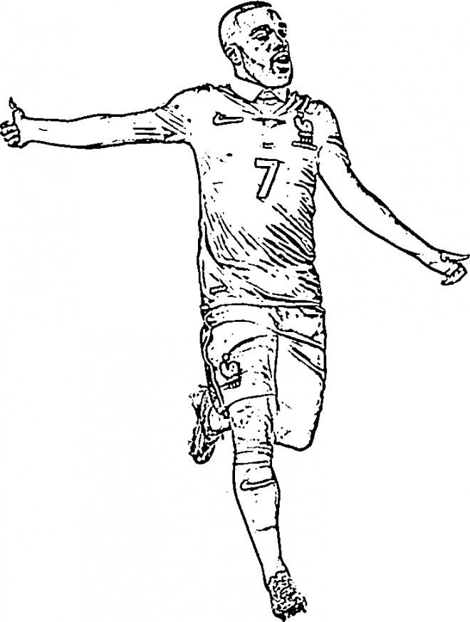Coloriage et dessins gratuits Célébrités Footballeur Français à imprimer