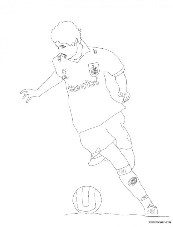 Coloriage et dessins gratuits célébrités Joueur de Foot à imprimer