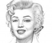 Coloriage et dessins gratuit Célébrités Marilyn Monroe à imprimer