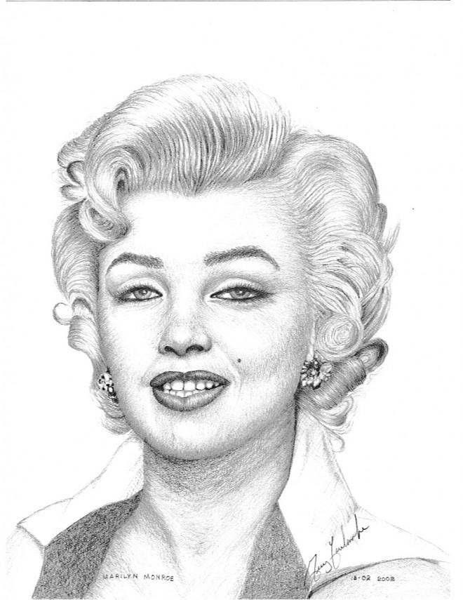 Coloriage et dessins gratuits Célébrités Marilyn Monroe à imprimer
