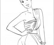 Coloriage et dessins gratuit célébrités stylisé à imprimer