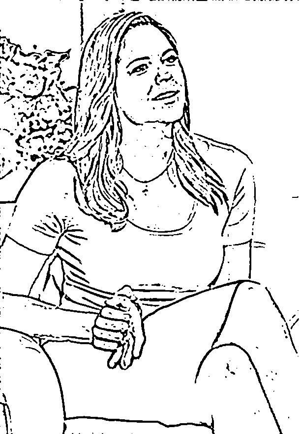 Coloriage et dessins gratuits Portrait Célébrités à main levée à imprimer