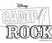 Coloriage dessin  Camp Rock 1