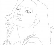 Coloriage Camp Rock Caitlyn Geller