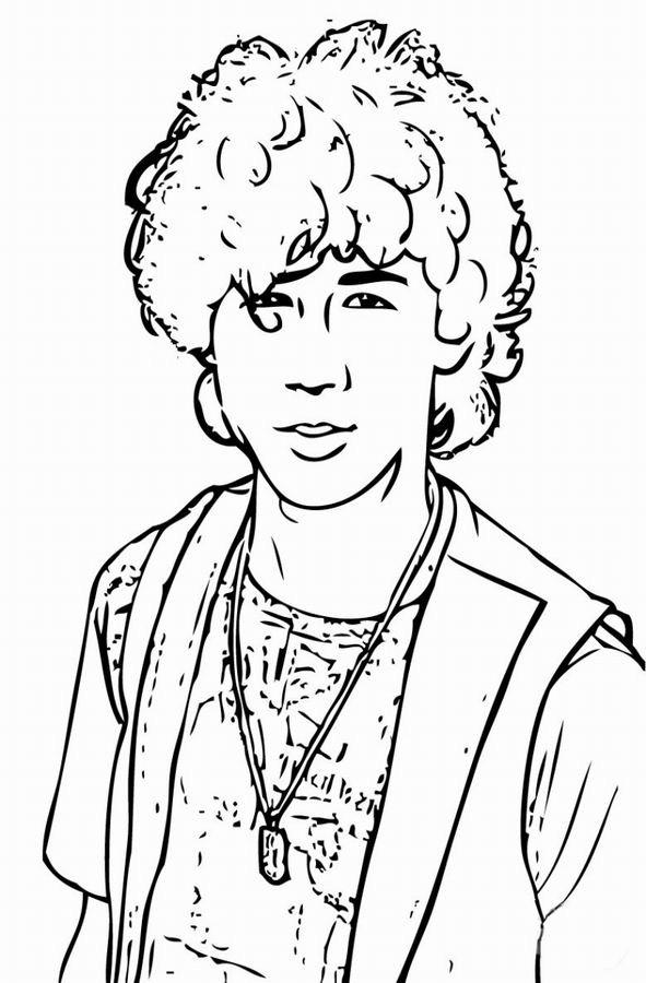 Coloriage et dessins gratuits Camp Rock Célébrités à imprimer