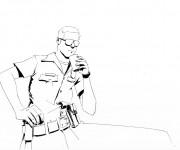 Coloriage et dessins gratuit Camp Rock en noir et blanc à imprimer