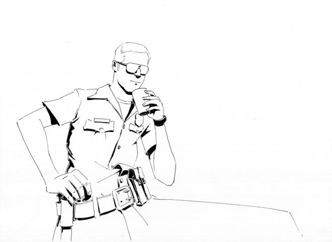 Coloriage et dessins gratuits Camp Rock en noir et blanc à imprimer