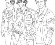 Coloriage Camp Rock groupe de Musique