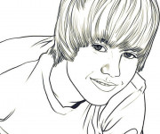 Coloriage Camp Rock Justin Bieber