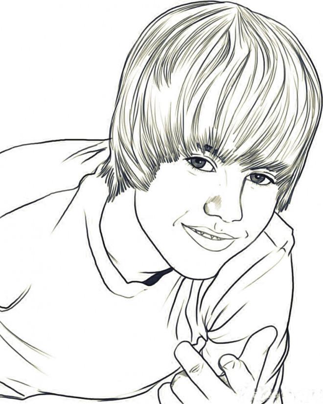 Coloriage et dessins gratuits Camp Rock Justin Bieber à imprimer