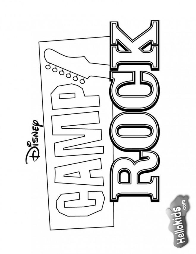 Coloriage et dessins gratuits Camp Rock maternelle à imprimer