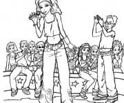Coloriage et dessins gratuit Camp Rock Musique à imprimer