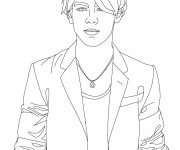 Coloriage Camp Rock Nate