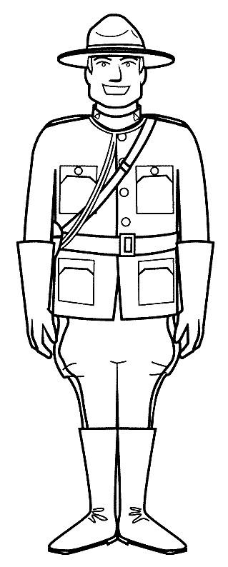 Coloriage et dessins gratuits Agent de Police de Canada à imprimer