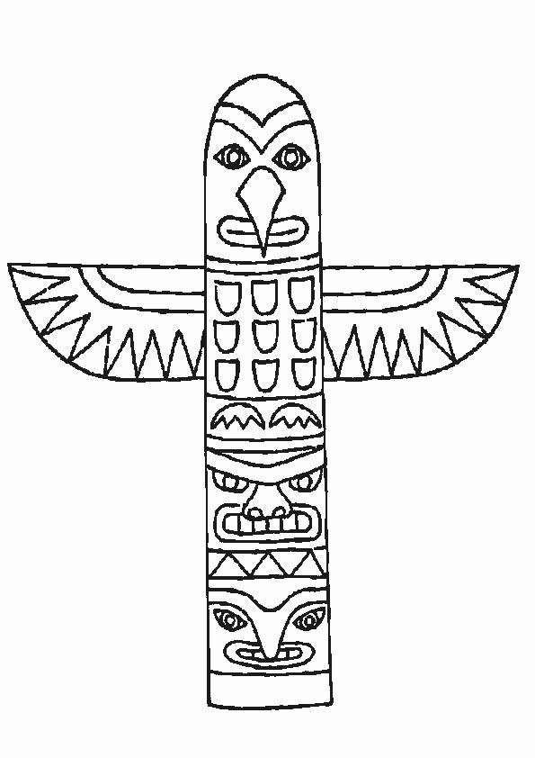 Coloriage et dessins gratuits Amérindiens du Québec à imprimer