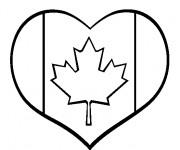 Coloriage et dessins gratuit Amour de Canada à imprimer