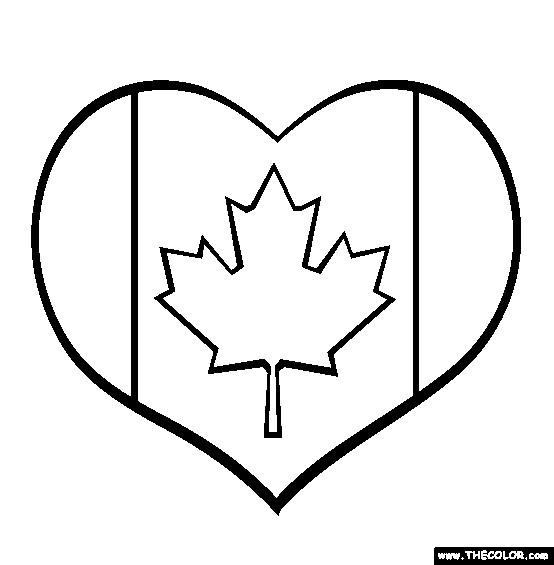 Coloriage et dessins gratuits Amour de Canada à imprimer