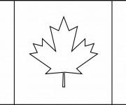 Coloriage dessin  Canada 1