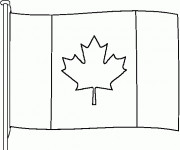 Coloriage dessin  Canada 6