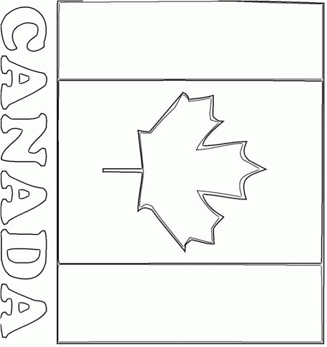 Coloriage et dessins gratuits Canada au crayon à imprimer
