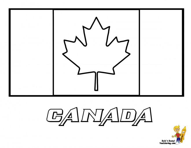 Coloriage Canada Drapeau Vecteur Dessin Gratuit A Imprimer