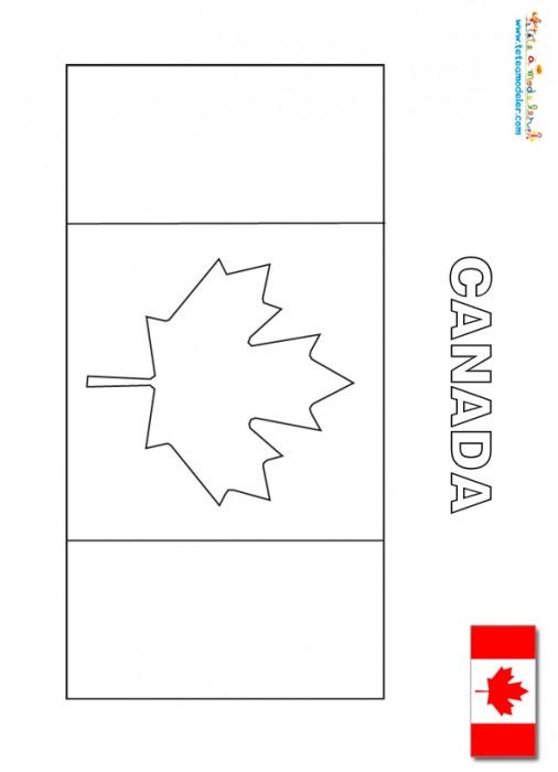 Coloriage et dessins gratuits Canada facile à imprimer