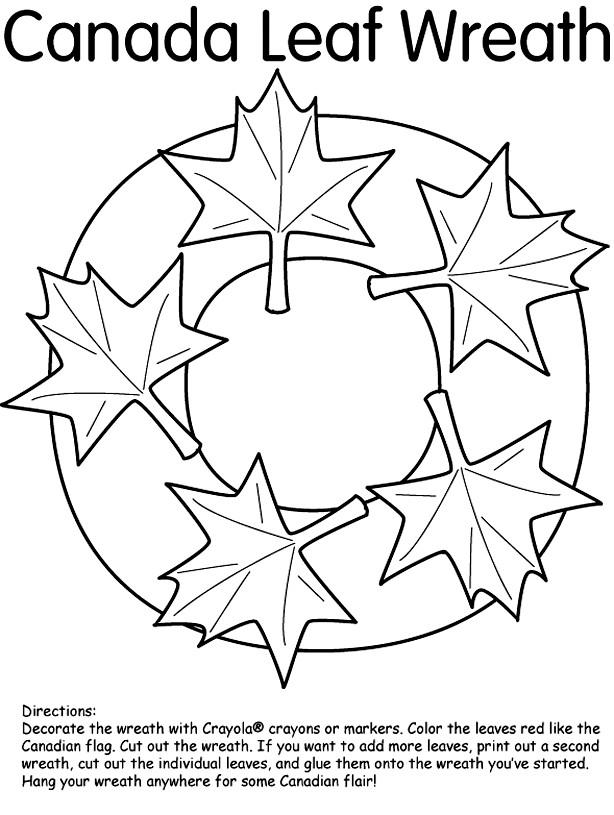 Coloriage et dessins gratuits Canada Feuille d'érable stylisé à imprimer