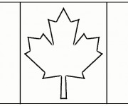 Coloriage Canada simple