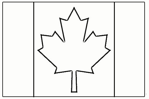 Coloriage et dessins gratuits Canada simple à imprimer