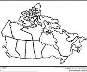 Coloriage et dessins gratuit Carte de Canada à colorier à imprimer