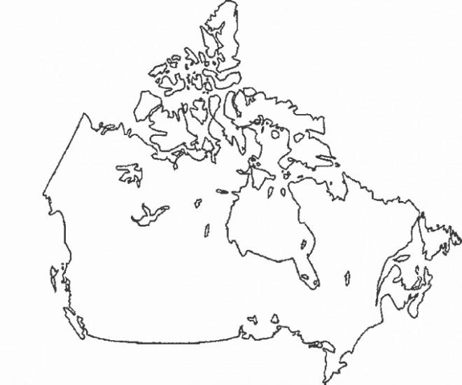 Coloriage et dessins gratuits Carte de Canada à télécharger à imprimer