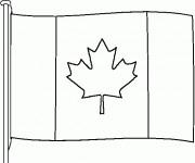 Coloriage et dessins gratuit Drapeau Canada en couleur à imprimer
