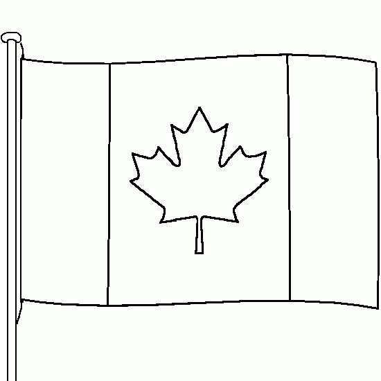 Coloriage et dessins gratuits Drapeau Canada en couleur à imprimer