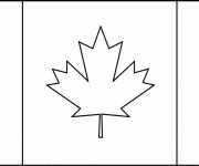 Coloriage Drapeau Canada simple